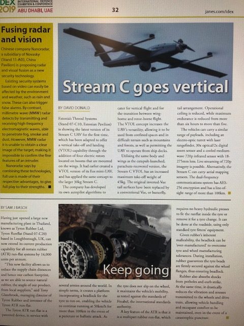 Stream C VTOL in Janes IDEX 2019
