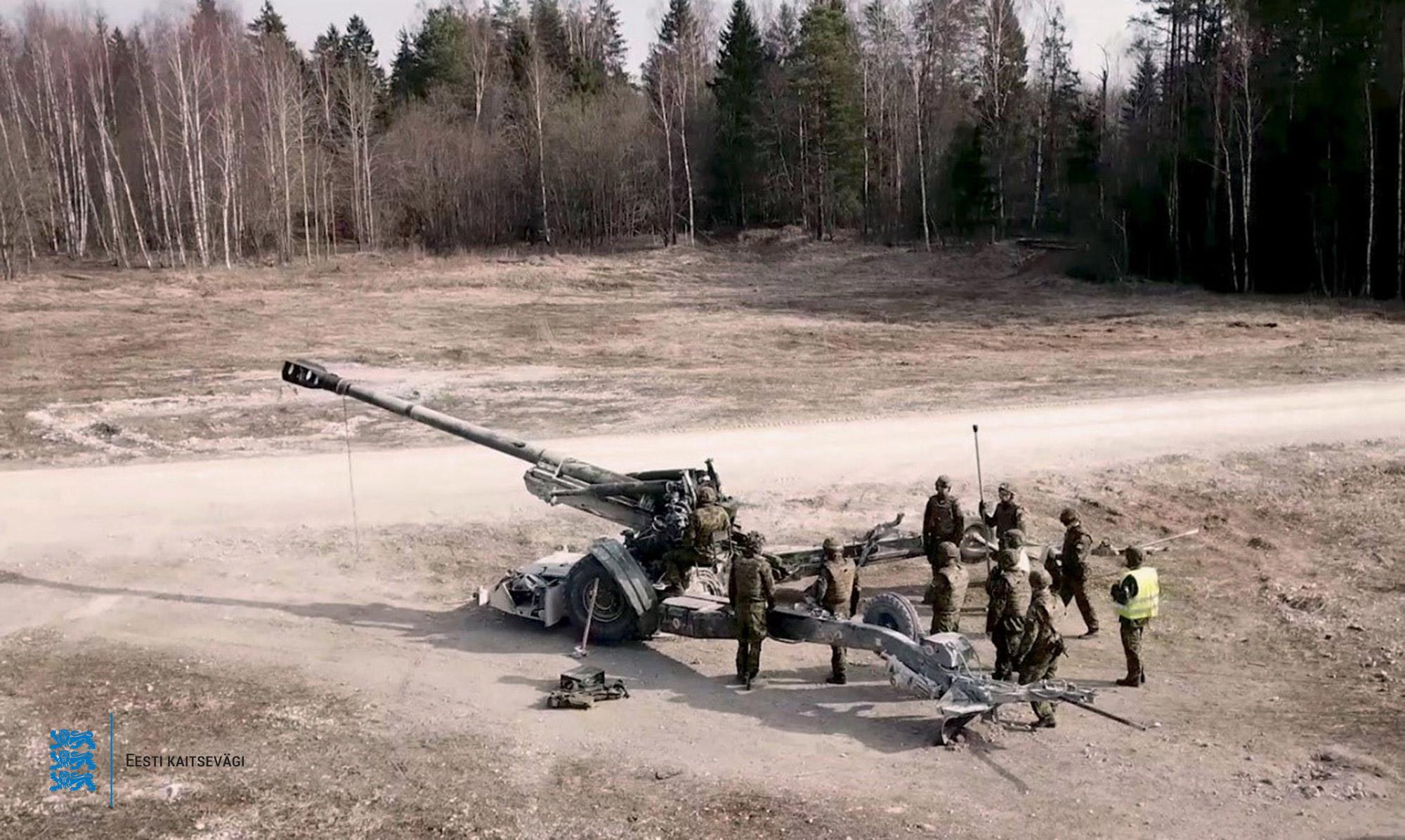 Estonian Defence Forces Artillery Battalion 155mm Howitzer