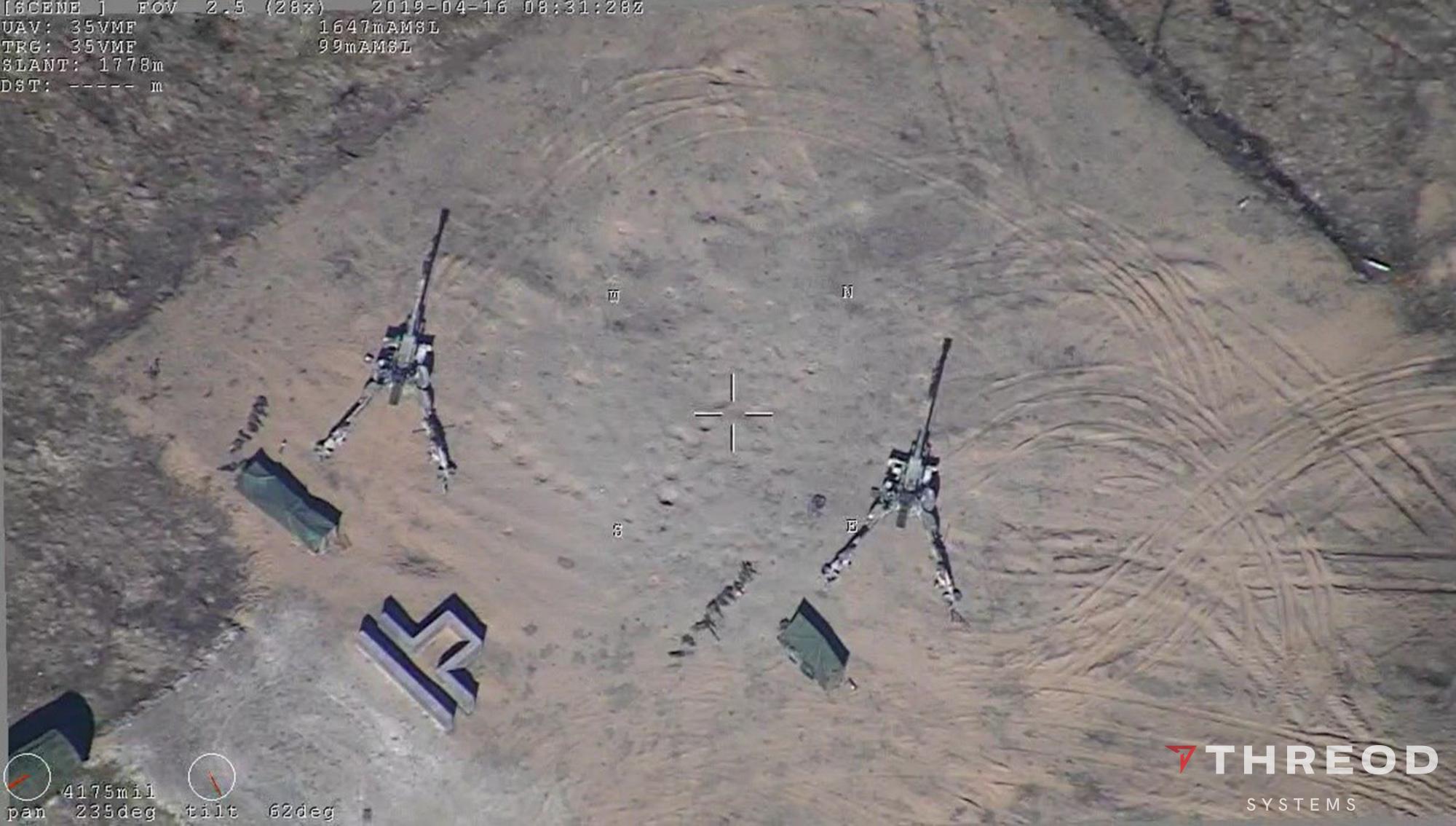Military UAV Threod Orca gimbal performance