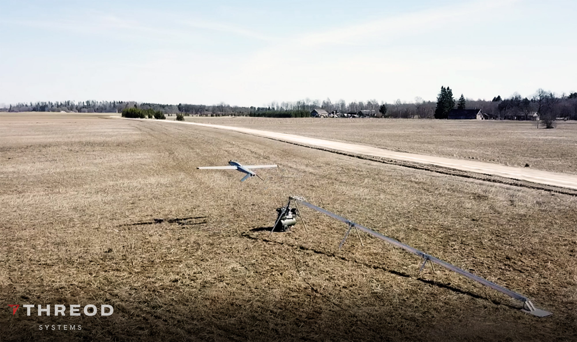 Stream C military UAV at Artillery Battalion live-fire exercise
