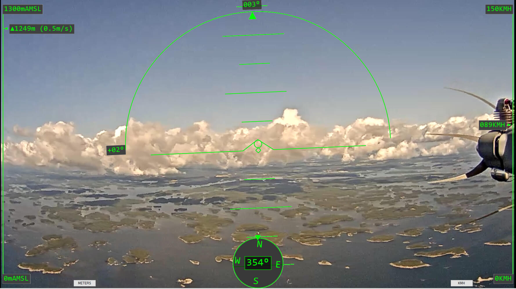 Stream UAV - operator view first drone flight from Estonia to Finland