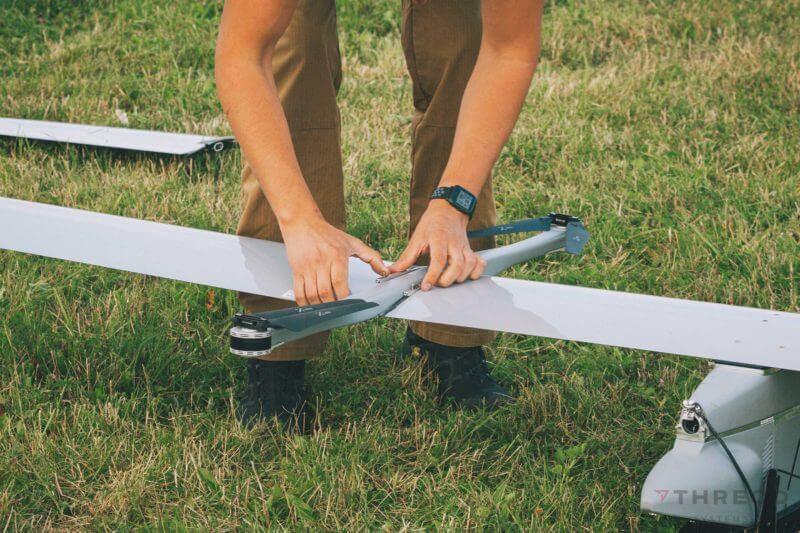 EOS C fixed wing VTOL UAS assembly