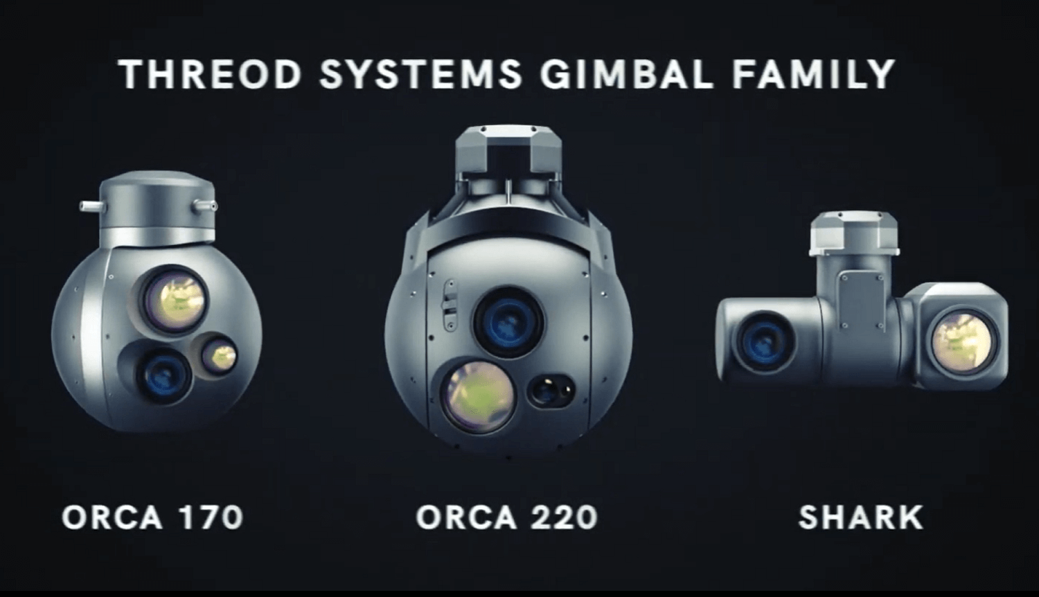 Threod Systems gimbal family including Orca 220 MWIR gimbal